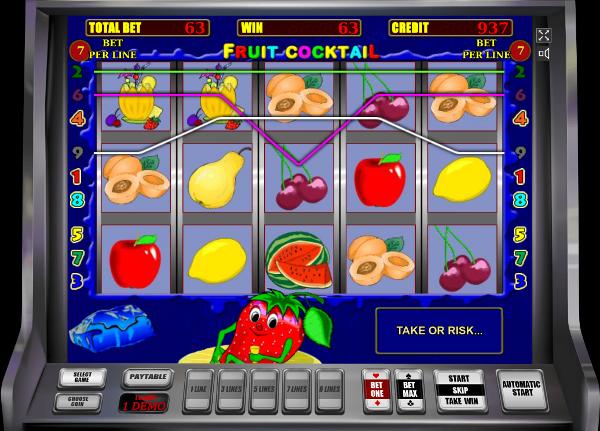 Игровой автомат Fruit Cocktail - внушительные выигрыши только в Вулкан Удачи казино