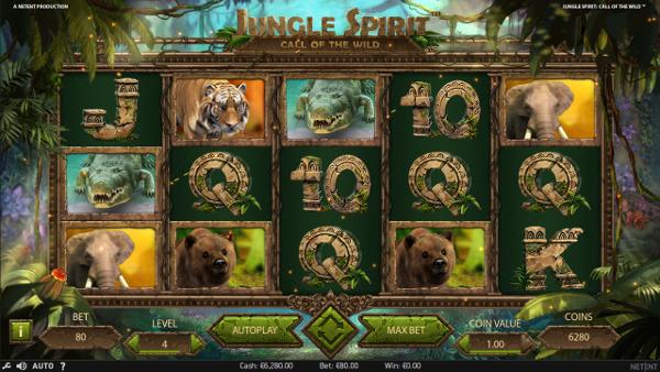 Игровой автомат Jungle Spirit - побеждай в лучшие слоты от NetEnt в казино Азино 777