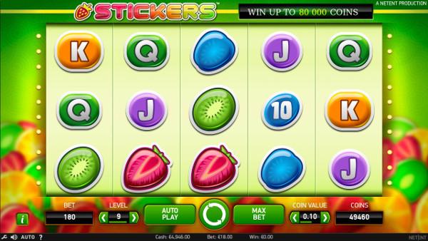 Игровой автомат Stickers - регистрация не нужна чтобы играть в бесплатный слот от NetEnt