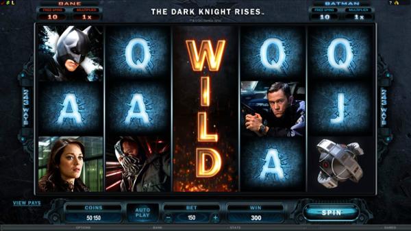 Игровой автомат The Dark Knight Rises - призы от темного рыцаря в казино Вулкан