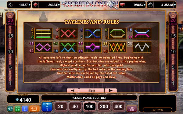 Игровой автомат The Secrets of London - настоящий азарт в казино Вулкан Платинум